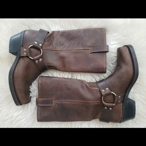 Frye brown leather boots size 7